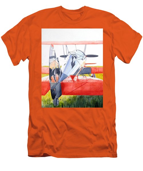 Reflection On Biplane Men's T-Shirt (Athletic Fit)