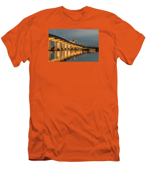 Reflections And Bridge Men's T-Shirt (Slim Fit) by Dorothy Cunningham