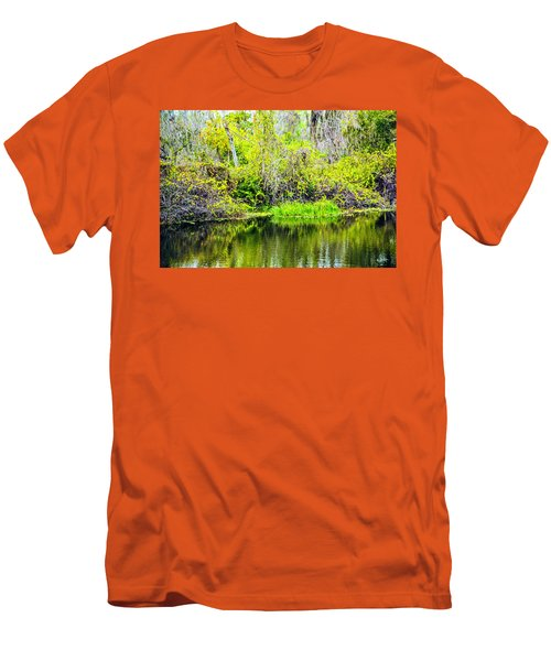 Men's T-Shirt (Slim Fit) featuring the photograph Reflections On A Beautiful Day by Madeline Ellis