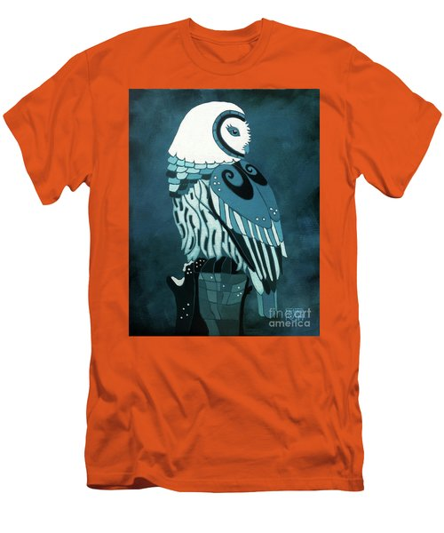 Retrospect In The Moonlight Owl Men's T-Shirt (Athletic Fit)