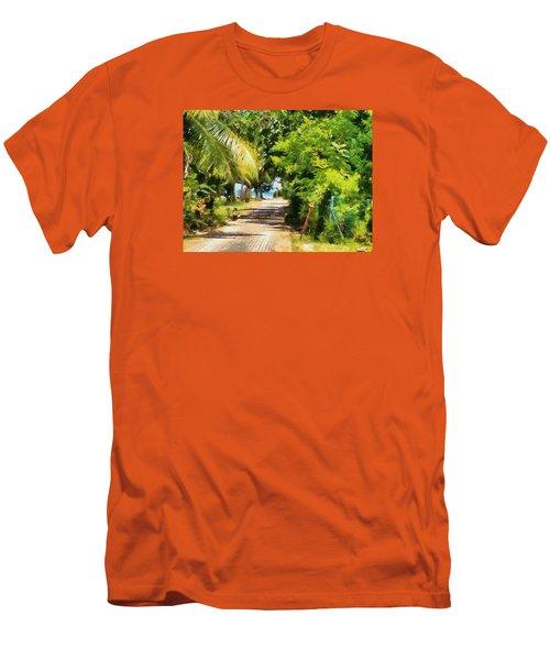 Rich Green Path Men's T-Shirt (Slim Fit) by Ashish Agarwal