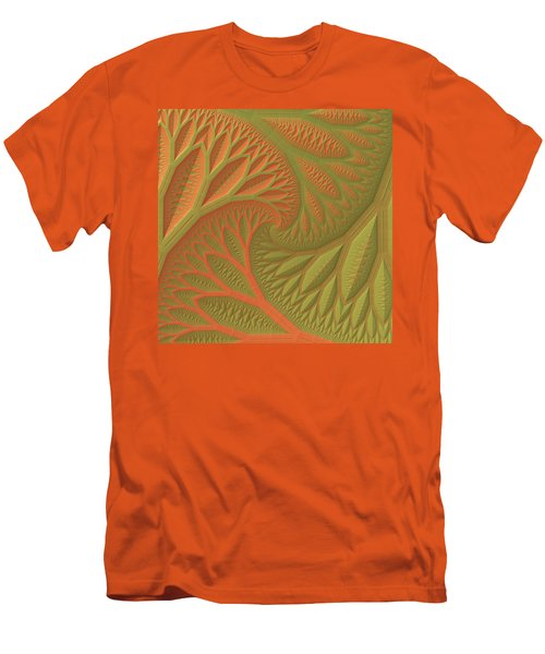 Men's T-Shirt (Slim Fit) featuring the digital art Ridges And Valleys by Lyle Hatch