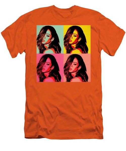 Rihanna Pop Art Men's T-Shirt (Athletic Fit)