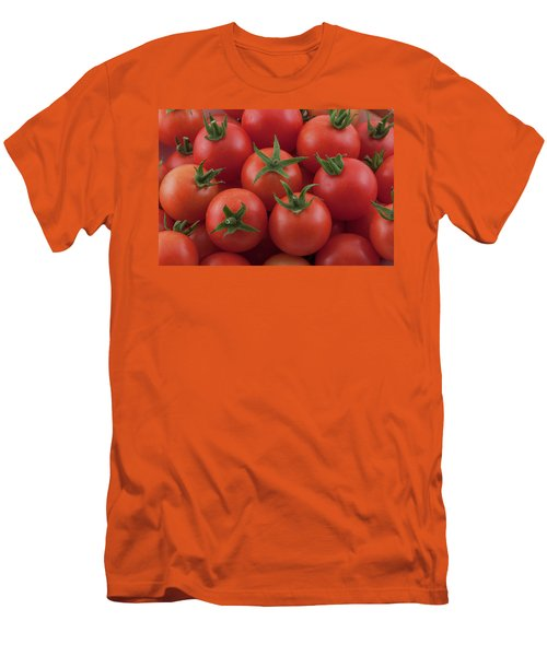 Men's T-Shirt (Athletic Fit) featuring the photograph Ripe Garden Cherry Tomatoes by James BO Insogna