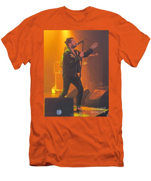 Men's T-Shirt (Slim Fit) featuring the photograph Rival Sons Jay Buchanan by Jeepee Aero