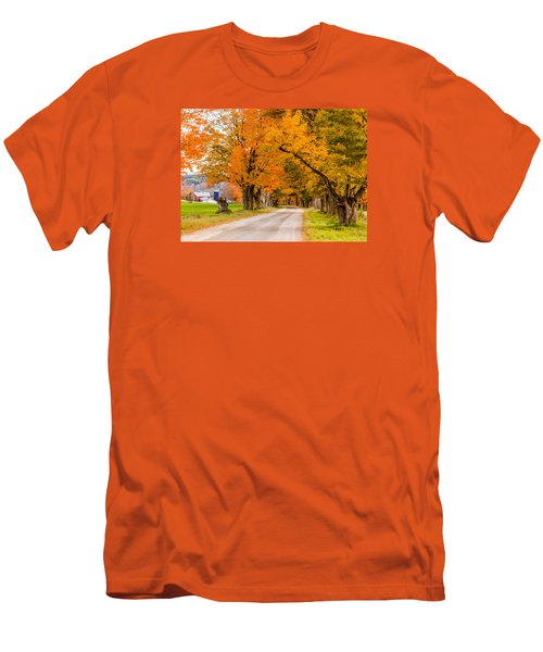 Road To The Farm Men's T-Shirt (Slim Fit) by Tim Kirchoff