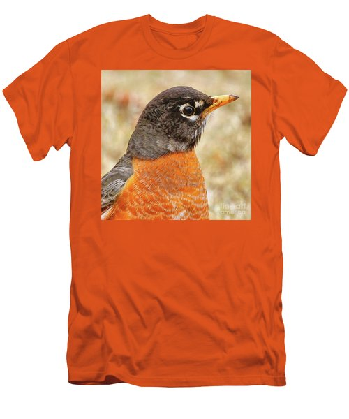 Men's T-Shirt (Athletic Fit) featuring the photograph Robin by Debbie Stahre