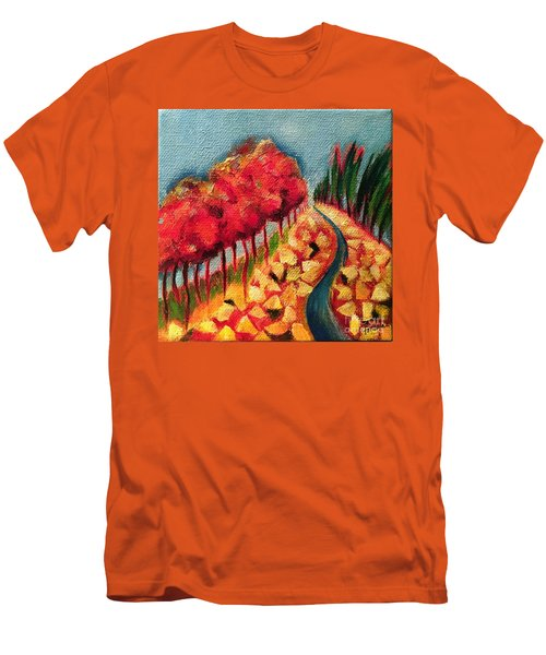 Rocky Mountain Men's T-Shirt (Slim Fit) by Elizabeth Fontaine-Barr