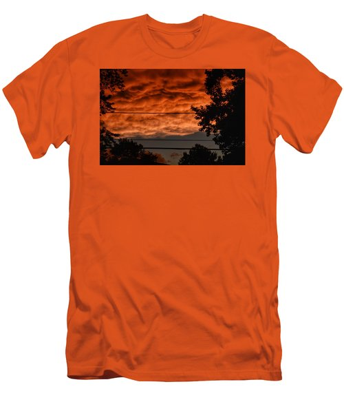 Men's T-Shirt (Slim Fit) featuring the photograph Rolling Skies by Nikki McInnes