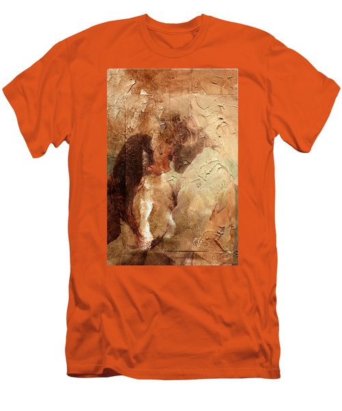 Romantic Kiss Men's T-Shirt (Slim Fit) by Andrea Barbieri