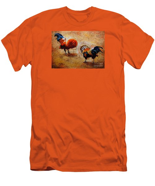 Roosters  Scene Men's T-Shirt (Athletic Fit)