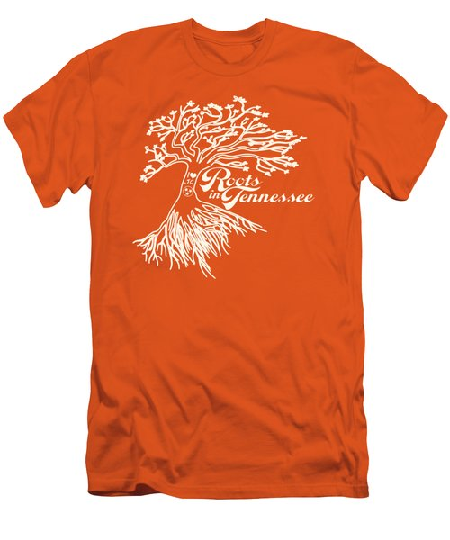 Roots In Tennessee Men's T-Shirt (Slim Fit) by Heather Applegate