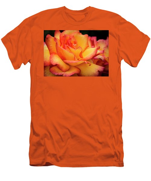 Men's T-Shirt (Slim Fit) featuring the photograph Rose Beauty by Jean Noren