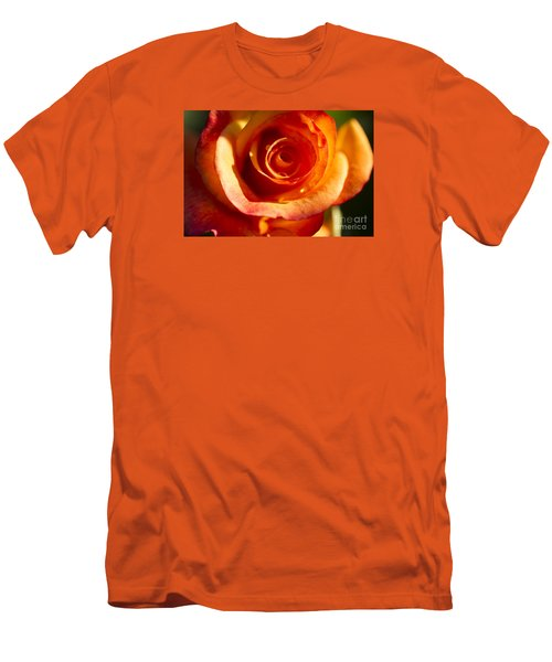 Men's T-Shirt (Slim Fit) featuring the photograph Rose Glow by Jeanette French