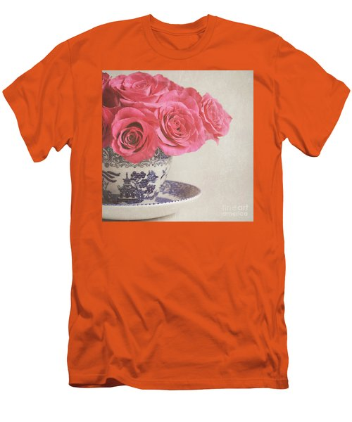 Men's T-Shirt (Slim Fit) featuring the photograph Rose Tea by Lyn Randle