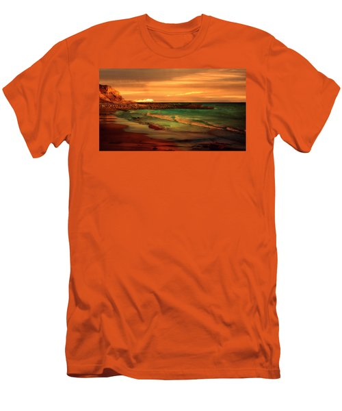 Royal Palms Beach At White Point Men's T-Shirt (Athletic Fit)