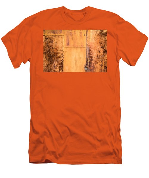 Men's T-Shirt (Slim Fit) featuring the photograph Rust On Metal Texture by John Williams