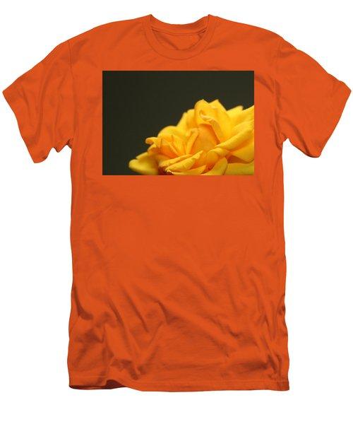 Saffron Mini Rose Men's T-Shirt (Athletic Fit)