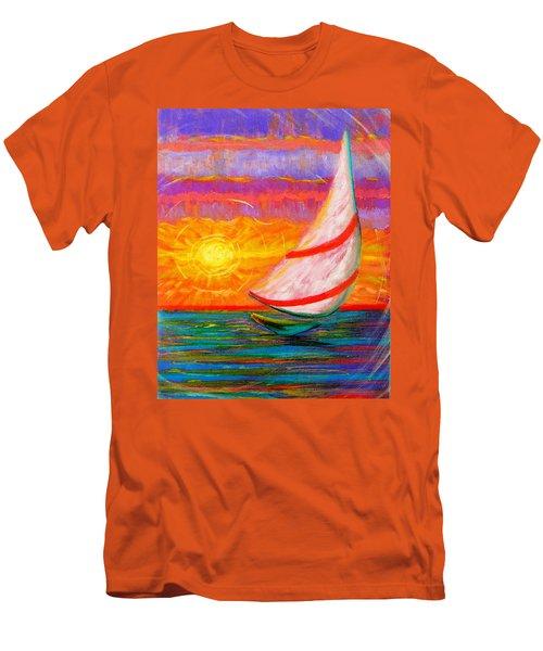 Sailaway Men's T-Shirt (Slim Fit) by Jeanette Jarmon
