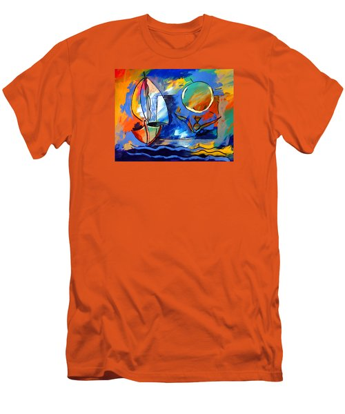 Sailboat 1 Men's T-Shirt (Athletic Fit)