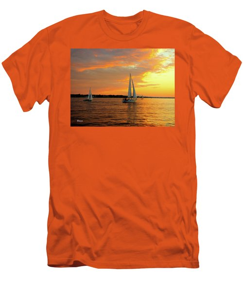 Sailboat Parade Men's T-Shirt (Athletic Fit)