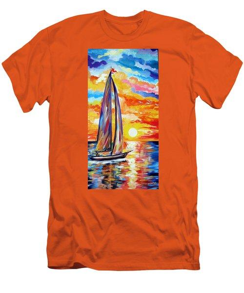 Sailing Towards My Dreams Men's T-Shirt (Athletic Fit)