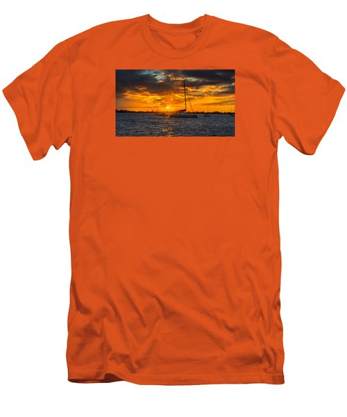 Sailor Sunset Men's T-Shirt (Slim Fit) by Kevin Cable