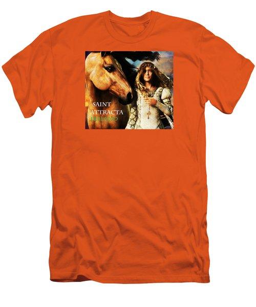 Saint Attracta Men's T-Shirt (Slim Fit) by Suzanne Silvir