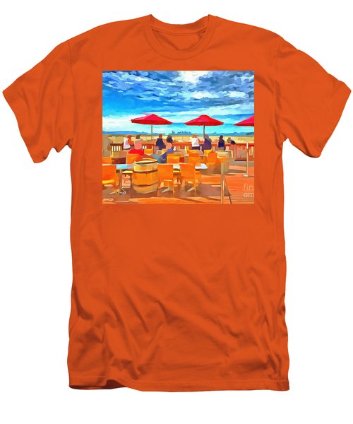 San Francisco Skyline From Alameda  Men's T-Shirt (Athletic Fit)