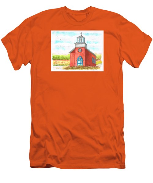 San Rafael Church In La Cueva, New Mexico Men's T-Shirt (Athletic Fit)