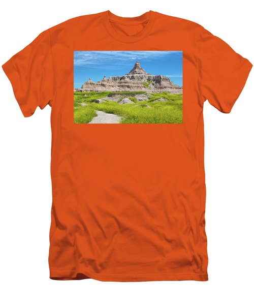 Men's T-Shirt (Athletic Fit) featuring the photograph Sandstone Battlestar by John M Bailey
