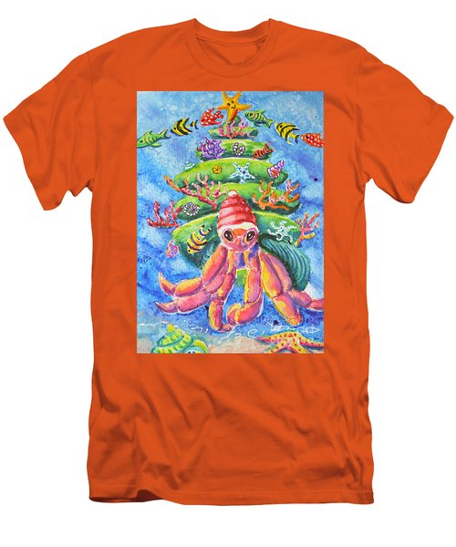 Santa Crab Men's T-Shirt (Slim Fit) by Li Newton