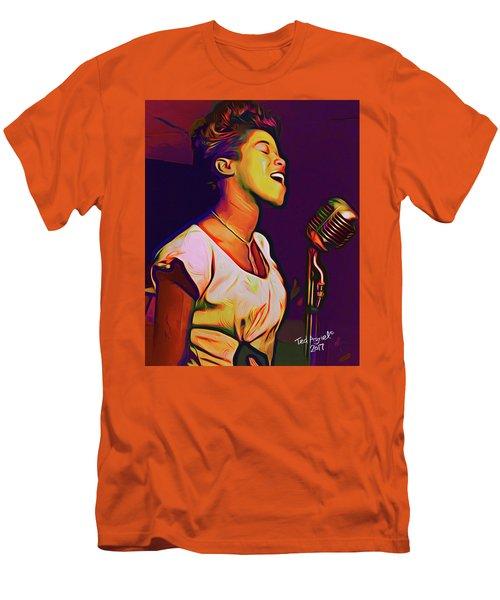 Sarah Vaughn Men's T-Shirt (Slim Fit) by Ted Azriel