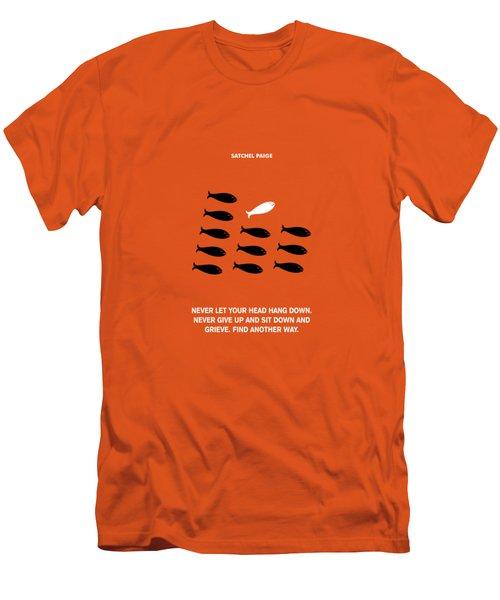Satchel Paige Corporate Startup Quotes Poster Men's T-Shirt (Athletic Fit)