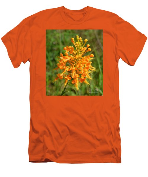 Men's T-Shirt (Slim Fit) featuring the photograph School Bus Yellow by Lew Davis
