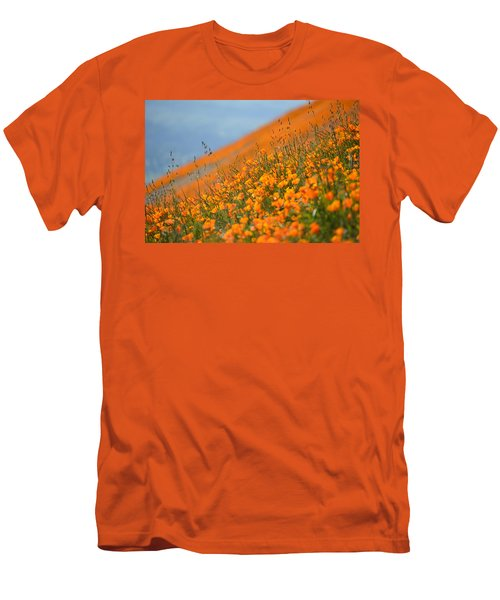 Sea Of Poppies Men's T-Shirt (Slim Fit) by Kyle Hanson