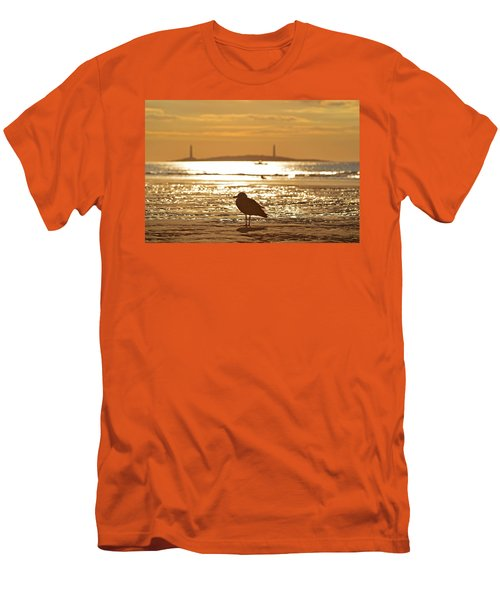 Seagull Admiring Thacher Island Gloucester Ma Good Harbor Beach Men's T-Shirt (Athletic Fit)