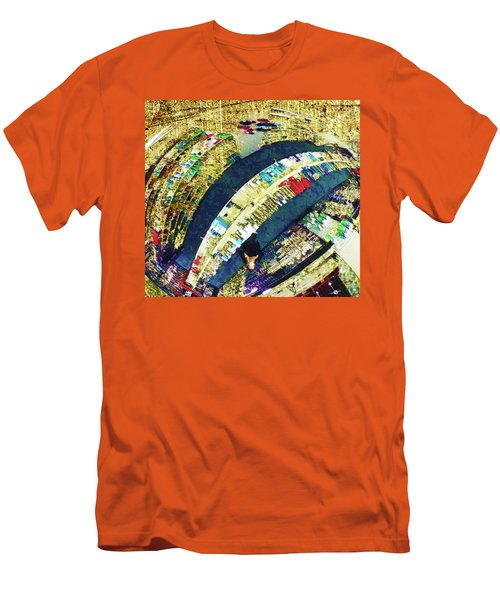Men's T-Shirt (Slim Fit) featuring the mixed media Self Portrait 1 by Tony Rubino