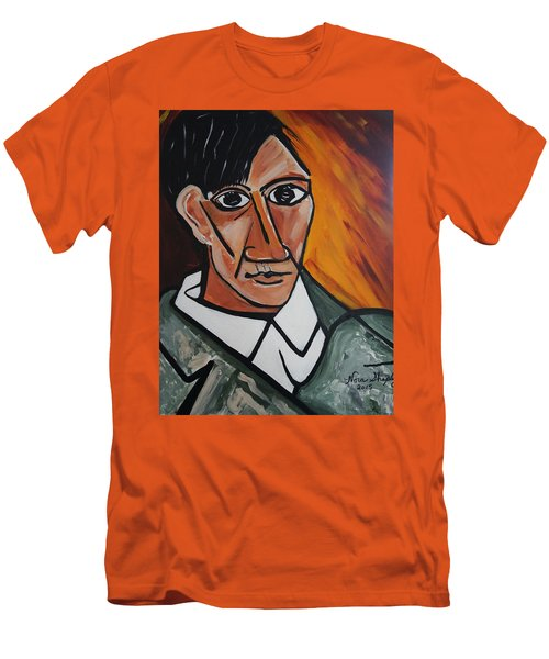 Self Portrait Of Picasso Men's T-Shirt (Slim Fit) by Nora Shepley