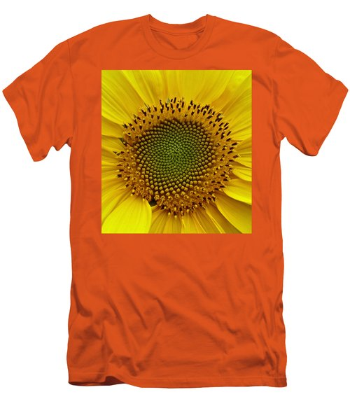 Men's T-Shirt (Slim Fit) featuring the photograph September Sunflower by Richard Cummings