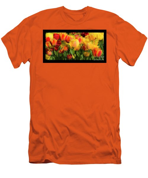 Men's T-Shirt (Athletic Fit) featuring the photograph Seriously Spring - Bordered by Wendy Wilton