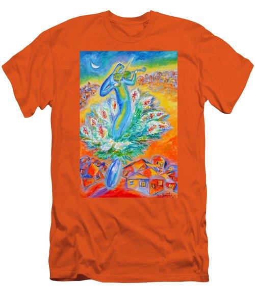 Shabbat Shalom Men's T-Shirt (Slim Fit) by Leon Zernitsky
