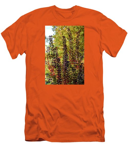 Shades Of Fall Men's T-Shirt (Slim Fit) by Deborah  Crew-Johnson