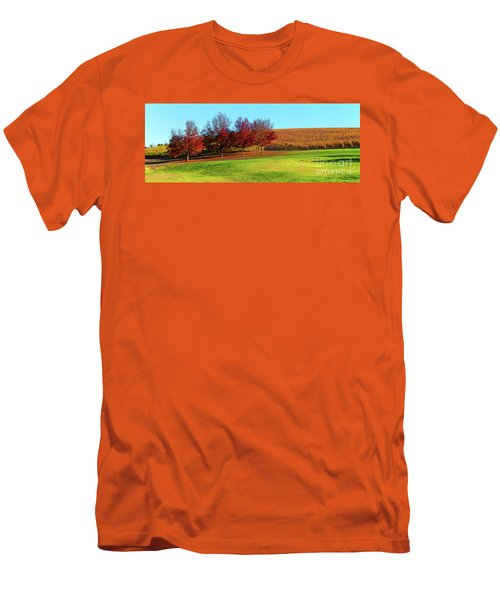 Men's T-Shirt (Slim Fit) featuring the photograph Shaw And Smith Winery by Bill Robinson
