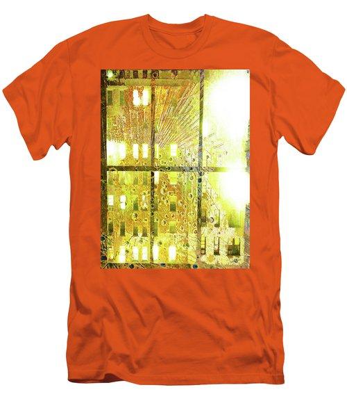 Men's T-Shirt (Slim Fit) featuring the mixed media Shine A Light by Tony Rubino