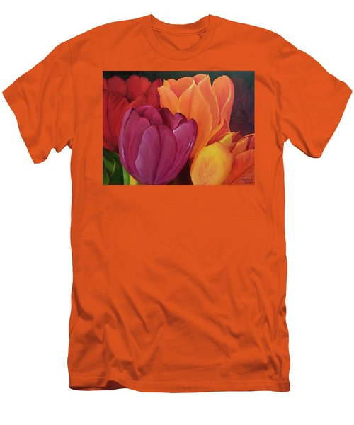 Silky Tulips Unite  Men's T-Shirt (Athletic Fit)