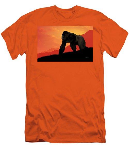 Men's T-Shirt (Slim Fit) featuring the digital art Silverback Gorilla by John Wills