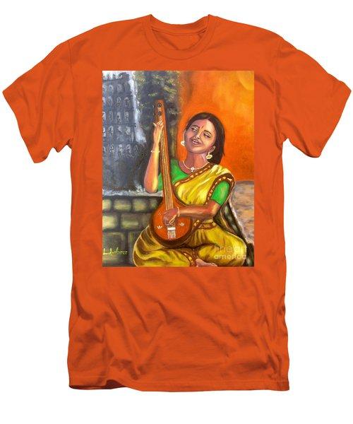 Singing @ Sunrise  Men's T-Shirt (Athletic Fit)