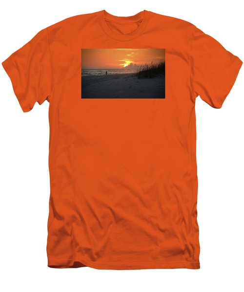 Men's T-Shirt (Slim Fit) featuring the photograph Sinking Into The Horizon by Renee Hardison