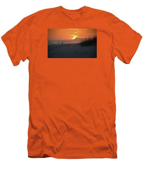 Sinking Into The Horizon Men's T-Shirt (Slim Fit) by Renee Hardison